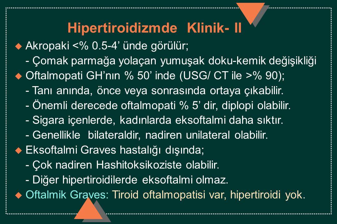 Hipertiroidizmde Klinik- II