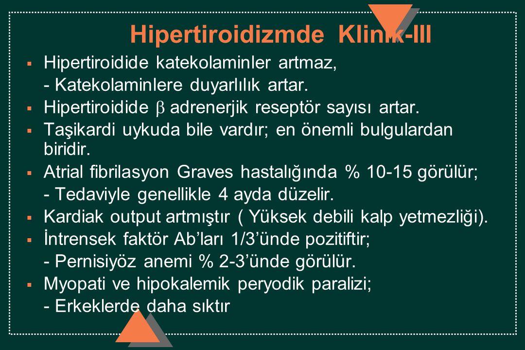 Hipertiroidizmde Klinik-III