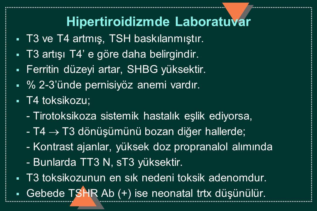 Hipertiroidizmde Laboratuvar