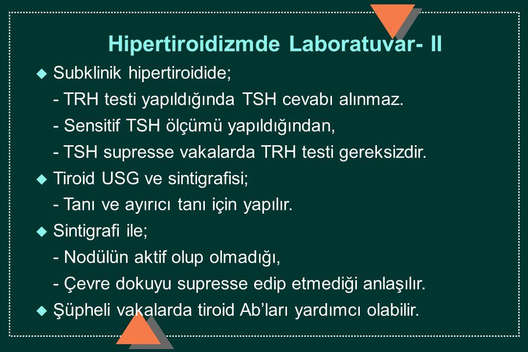 Hipertiroidizmde Laboratuvar- II
