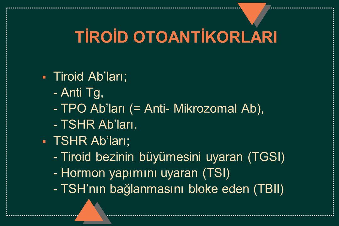 TİROİD OTOANTİKORLARI