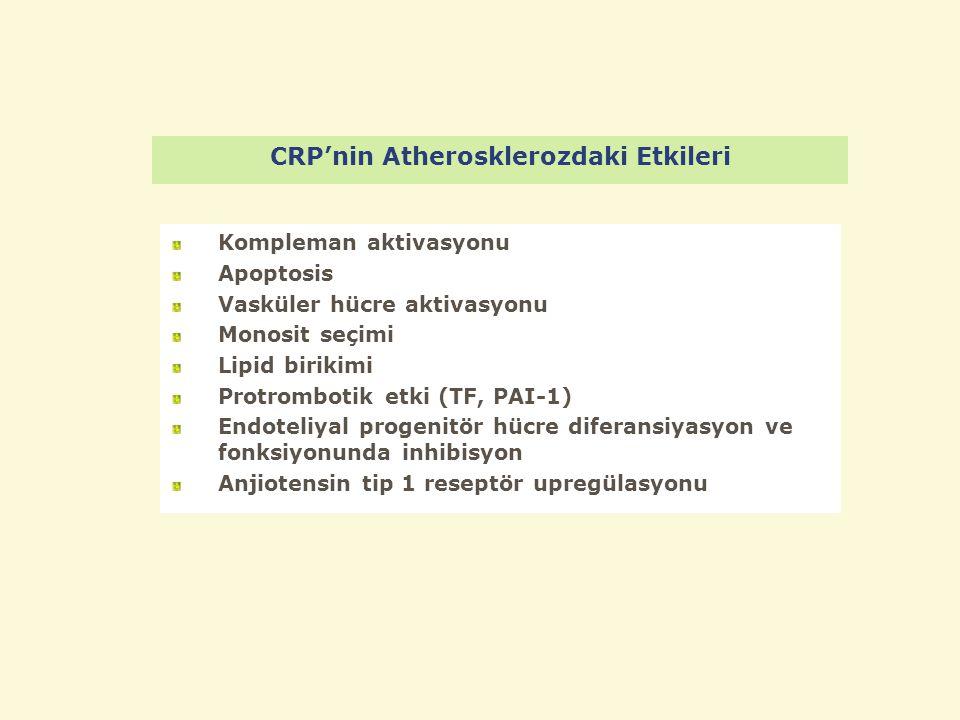 CRP'nin Atherosklerozdaki Etkileri
