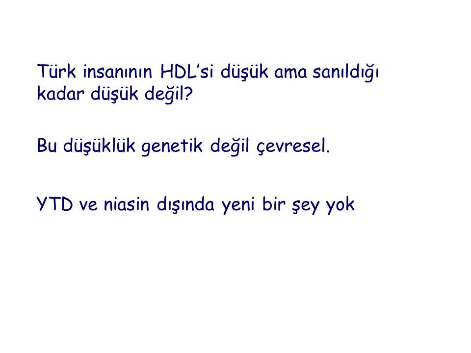 Türk insanının HDL'si düşük ama sanıldığı kadar düşük değil