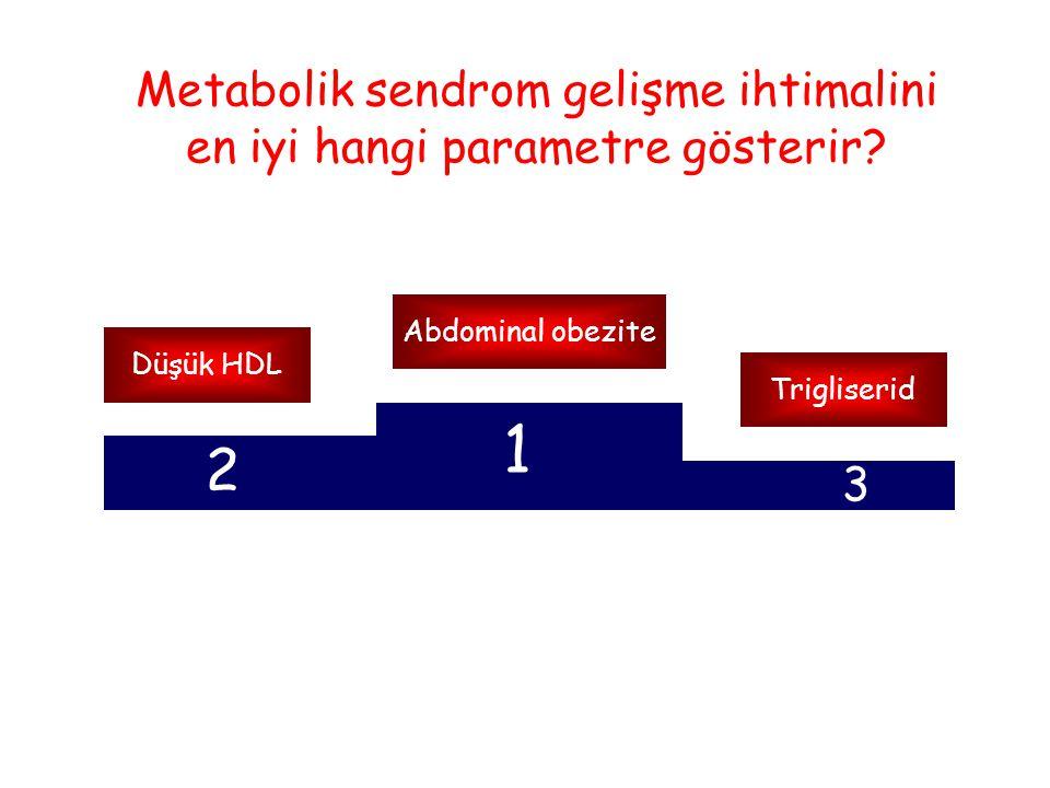 Metabolik sendrom gelişme ihtimalini en iyi hangi parametre gösterir