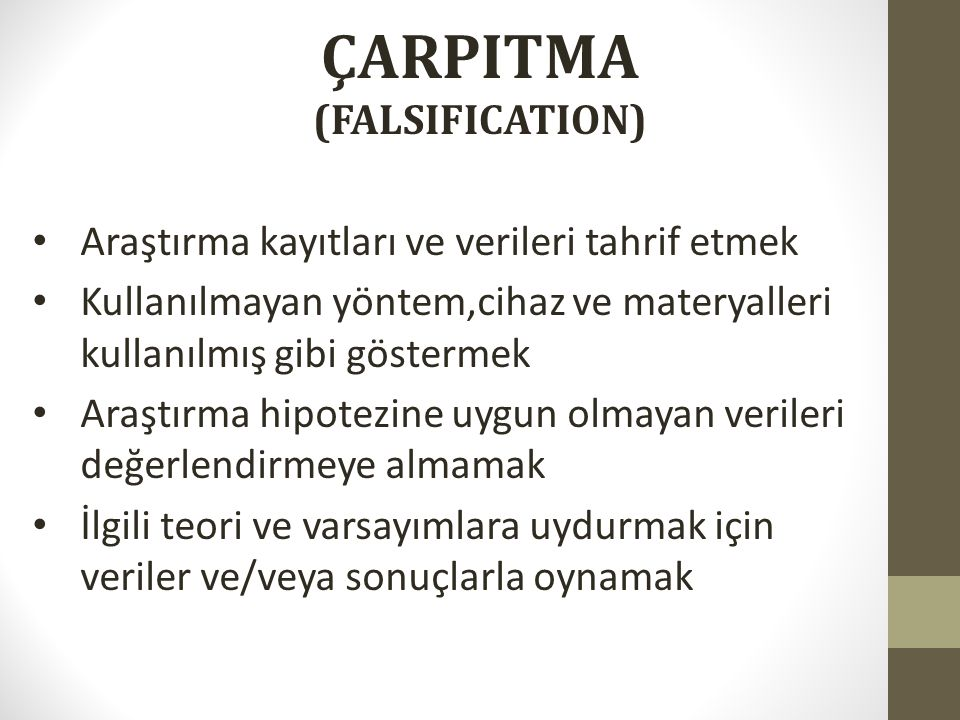 ÇARPITMA (FALSIFICATION)‏