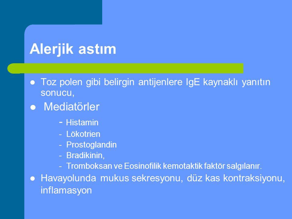 Alerjik astım Mediatörler - Histamin