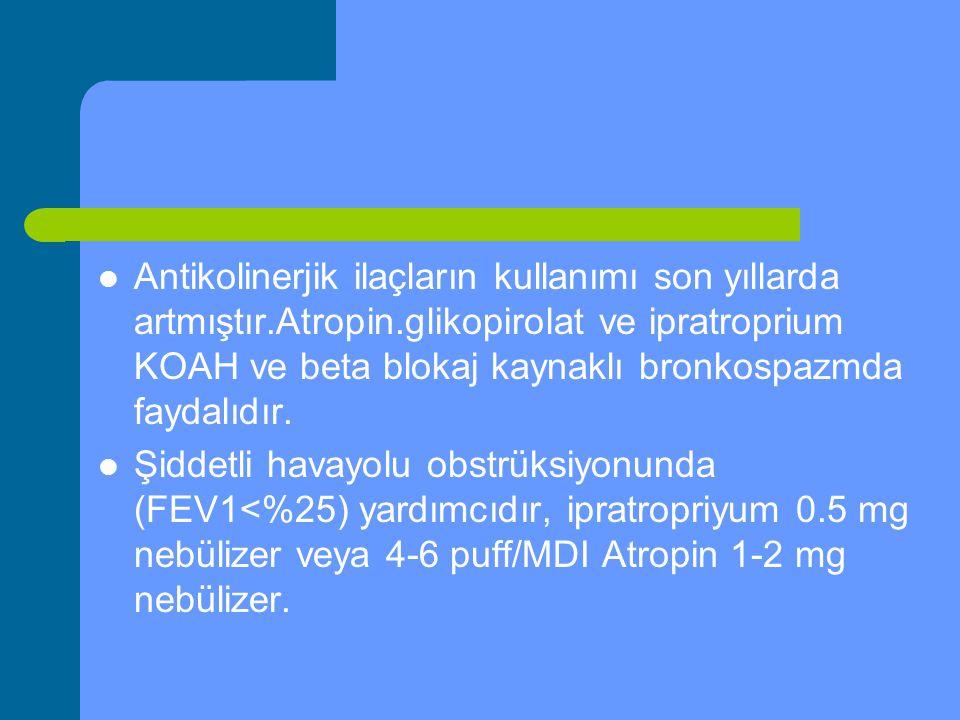 Antikolinerjik ilaçların kullanımı son yıllarda artmıştır. Atropin