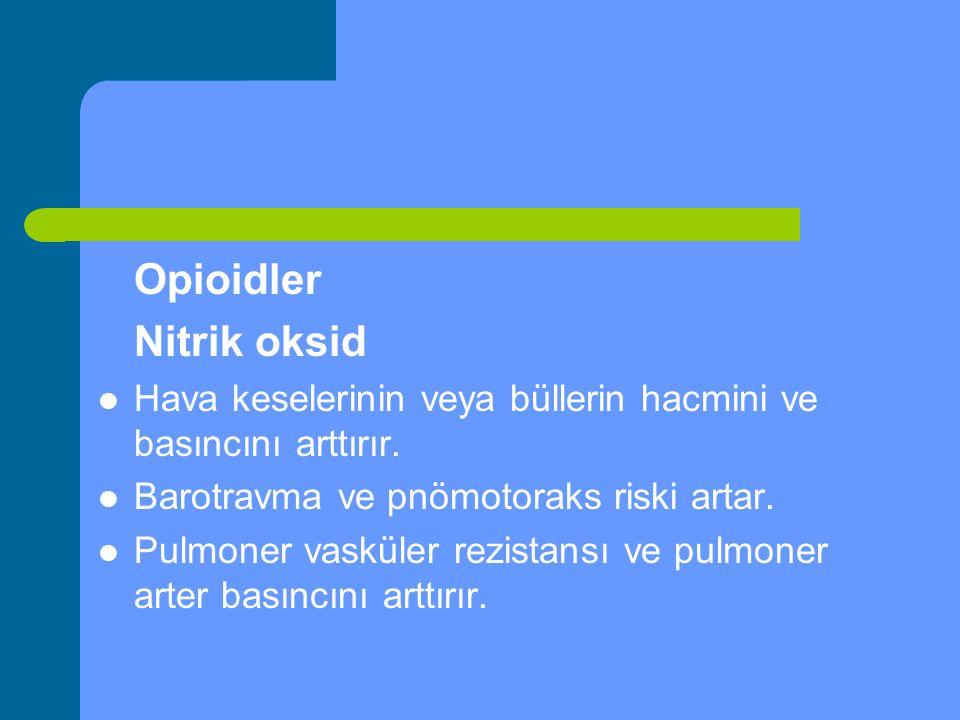 Opioidler Nitrik oksid