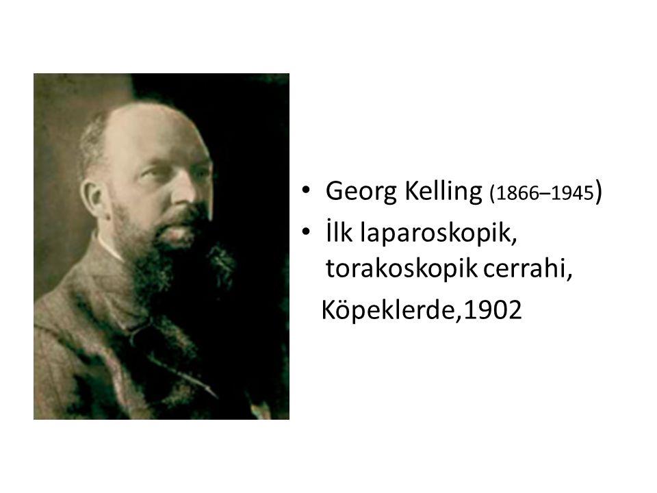 Georg Kelling (1866–1945) İlk laparoskopik, torakoskopik cerrahi, Köpeklerde,1902