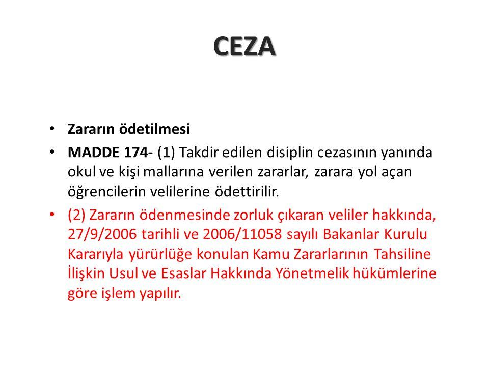 CEZA Zararın ödetilmesi