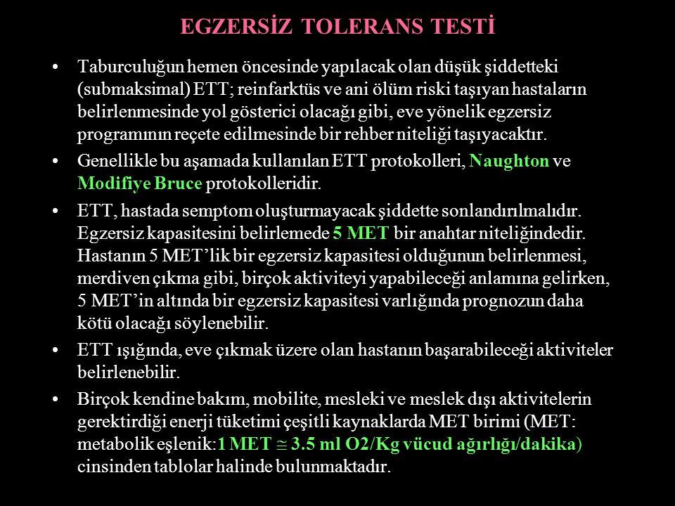EGZERSİZ TOLERANS TESTİ