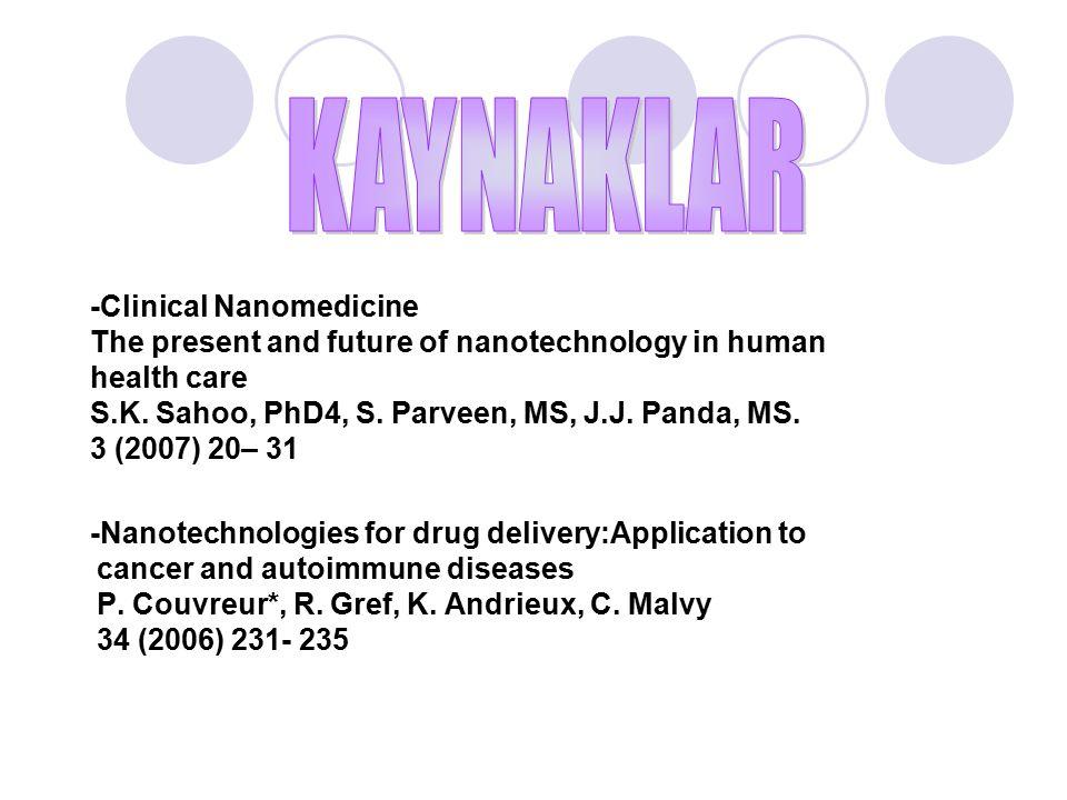 KAYNAKLAR -Clinical Nanomedicine