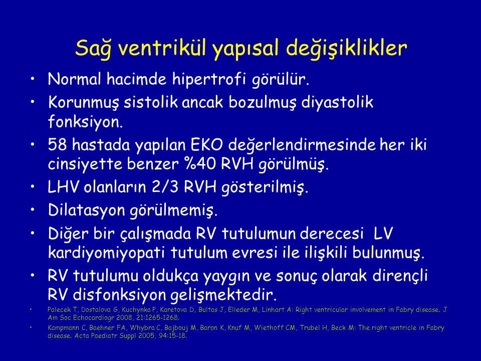 Sağ ventrikül yapısal değişiklikler