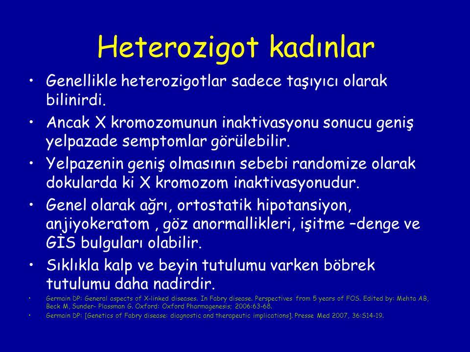 Heterozigot kadınlar Genellikle heterozigotlar sadece taşıyıcı olarak bilinirdi.