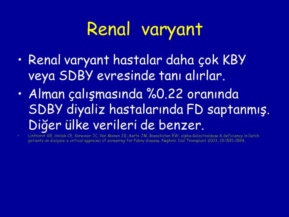Renal varyant Renal varyant hastalar daha çok KBY veya SDBY evresinde tanı alırlar.