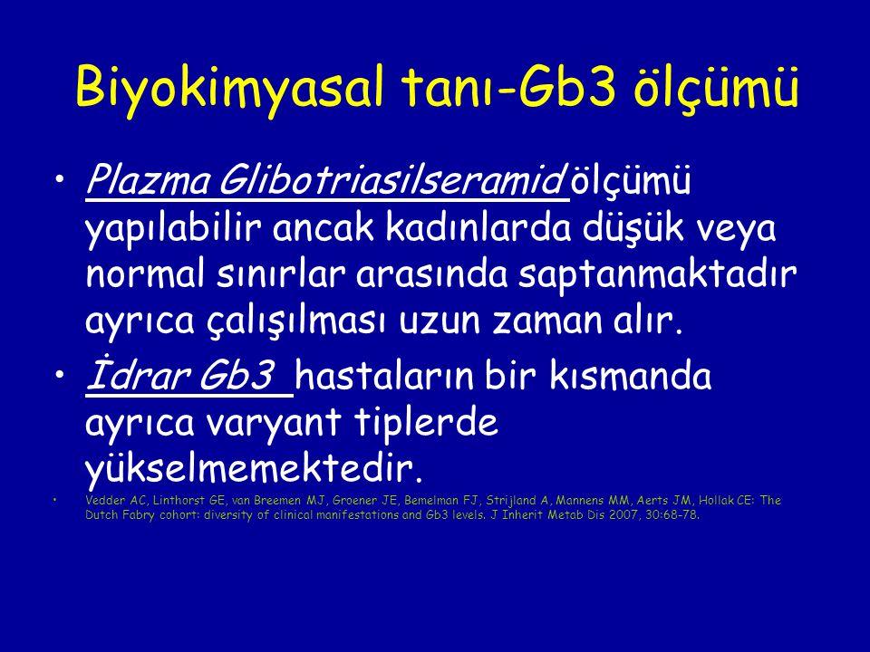 Biyokimyasal tanı-Gb3 ölçümü