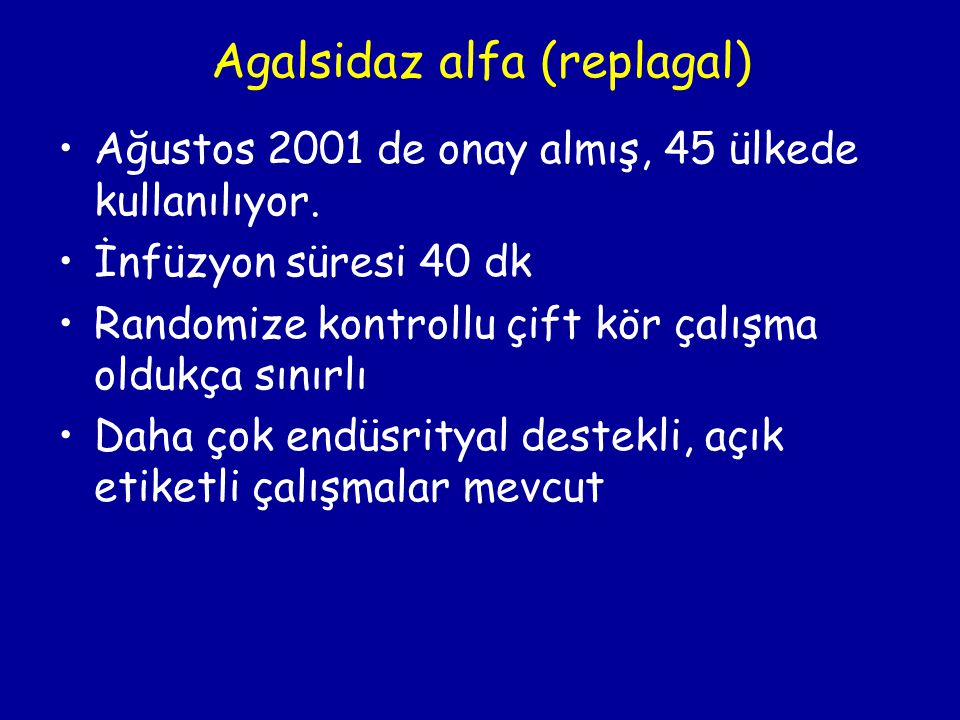 Agalsidaz alfa (replagal)