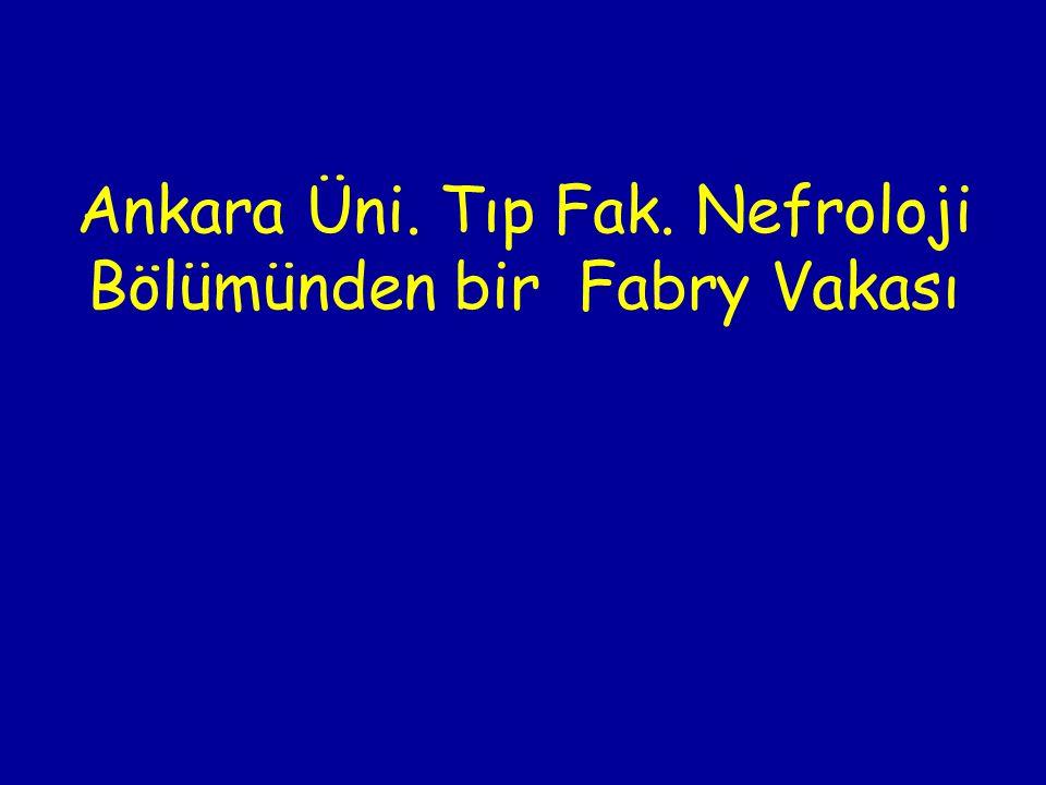 Ankara Üni. Tıp Fak. Nefroloji Bölümünden bir Fabry Vakası