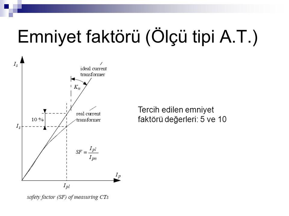 Emniyet faktörü (Ölçü tipi A.T.)