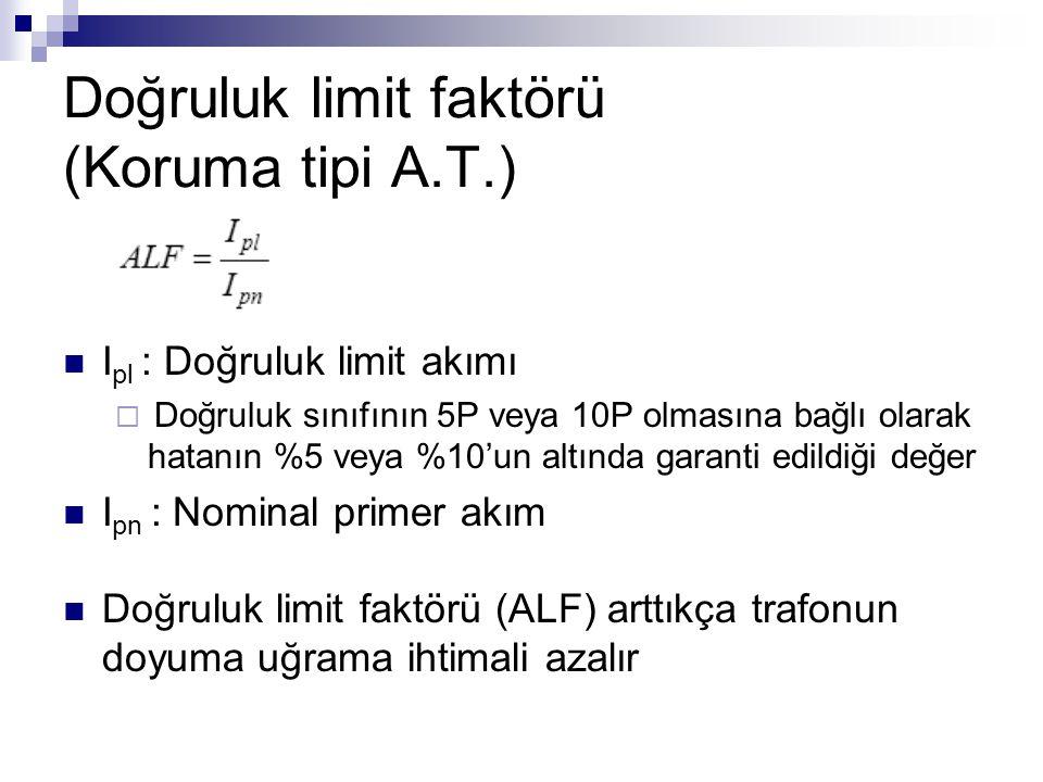 Doğruluk limit faktörü (Koruma tipi A.T.)
