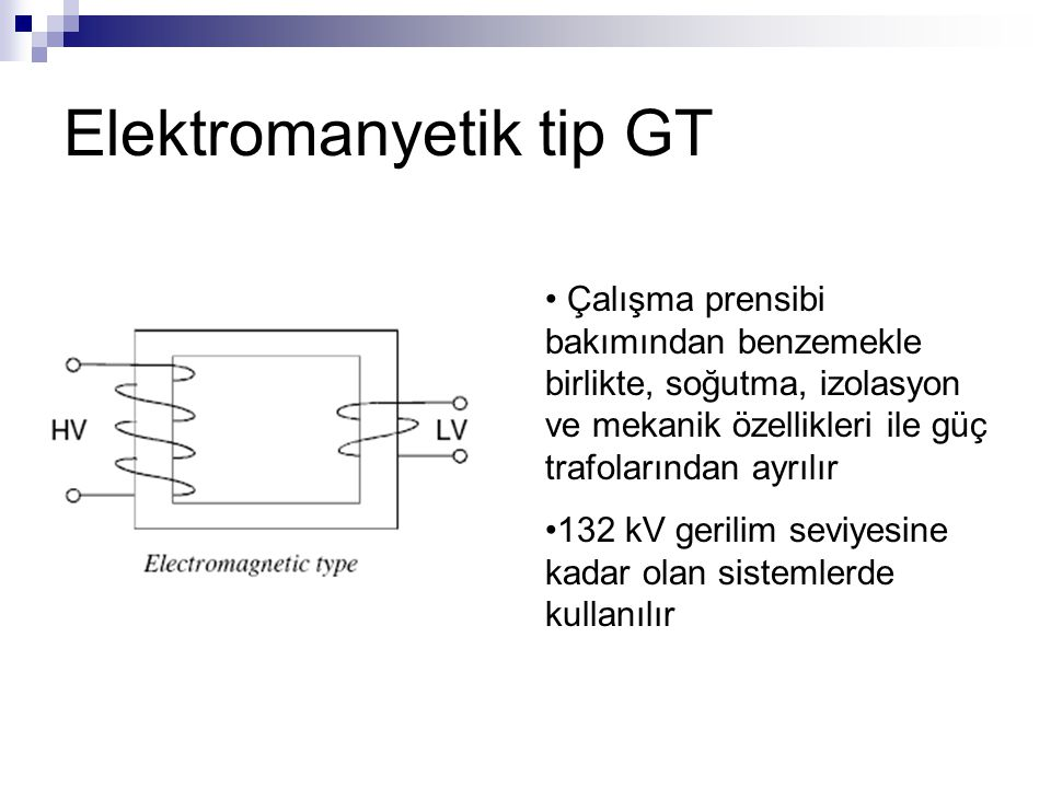 Elektromanyetik tip GT