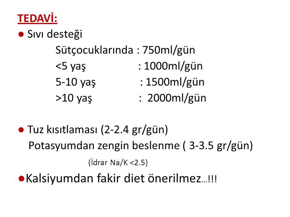 ●Kalsiyumdan fakir diet önerilmez…!!!