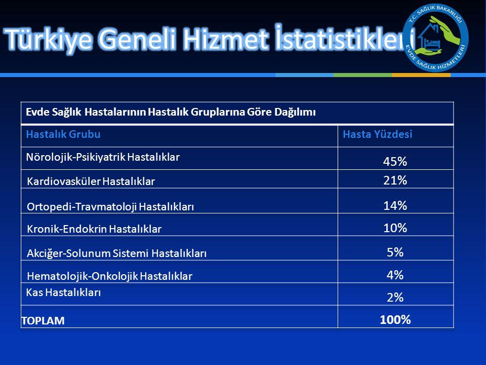 Türkiye Geneli Hizmet İstatistikleri