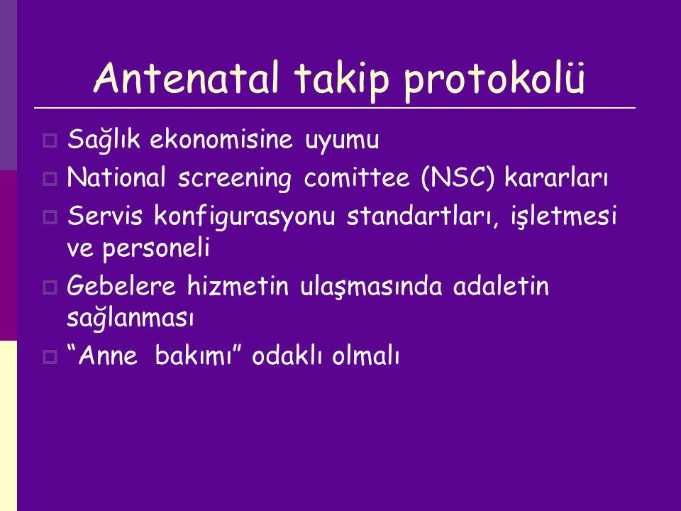Antenatal takip protokolü