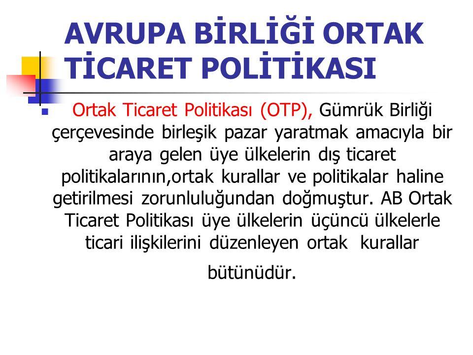 AVRUPA BİRLİĞİ ORTAK TİCARET POLİTİKASI