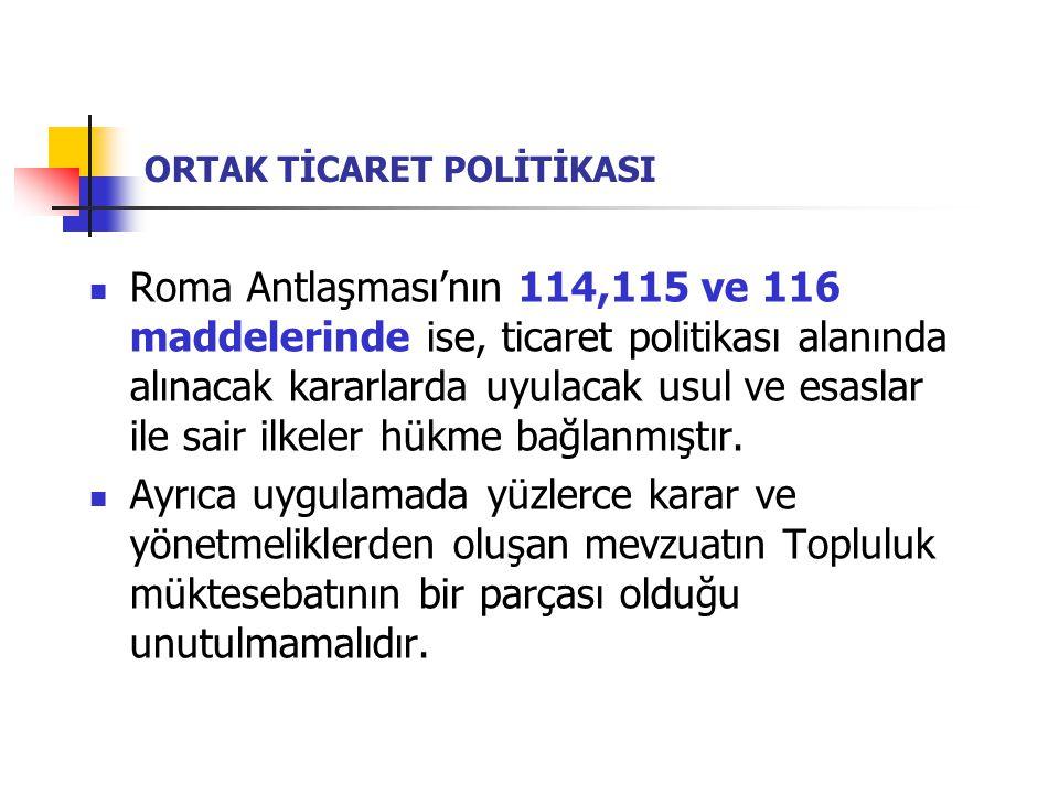 ORTAK TİCARET POLİTİKASI