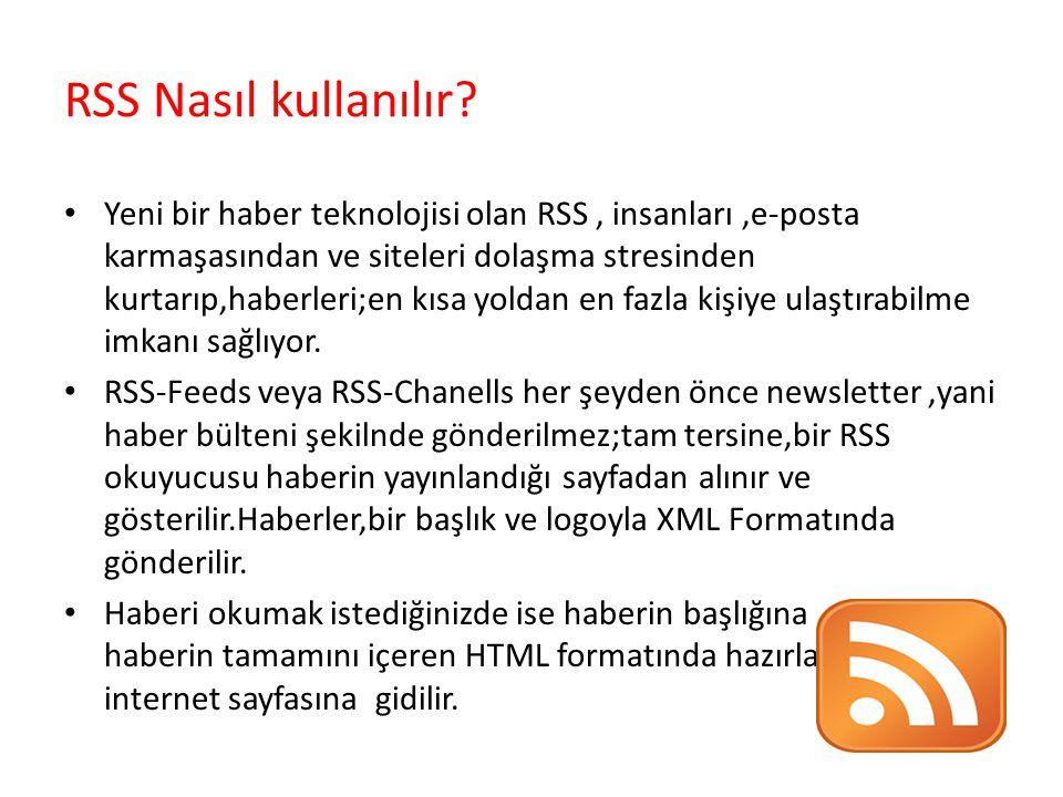 RSS Nasıl kullanılır