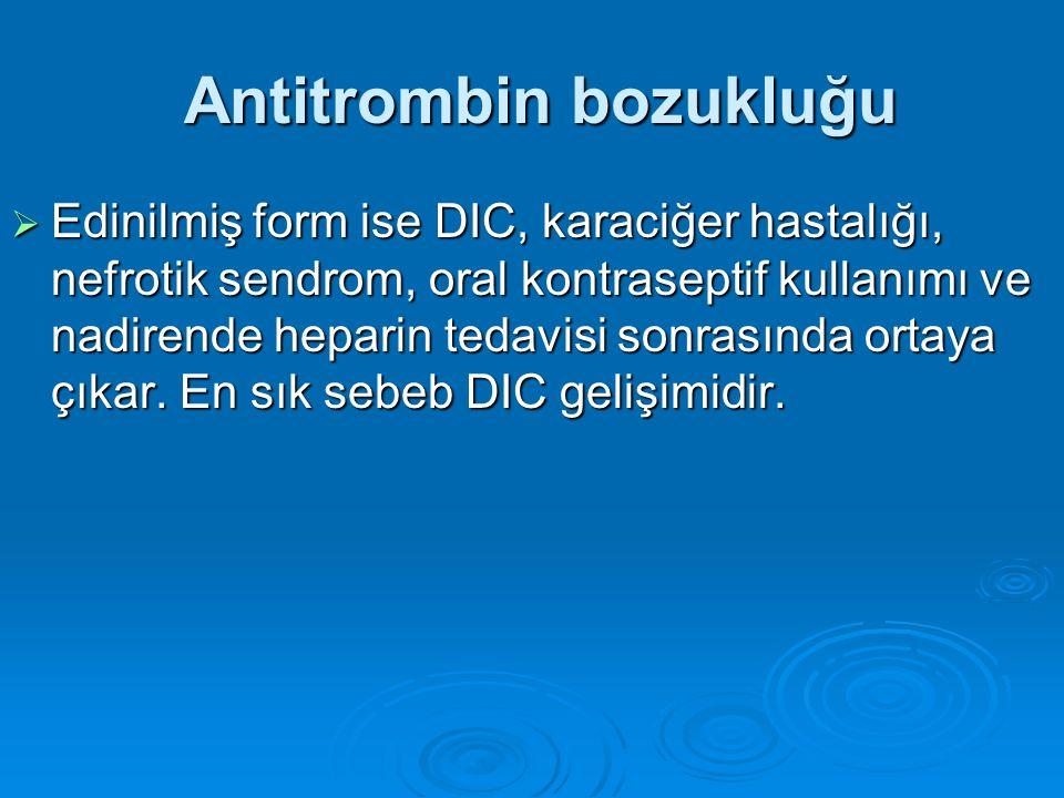 Antitrombin bozukluğu