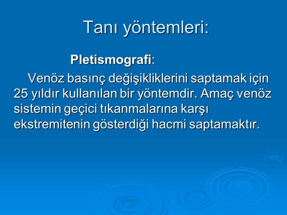Tanı yöntemleri: Pletismografi: