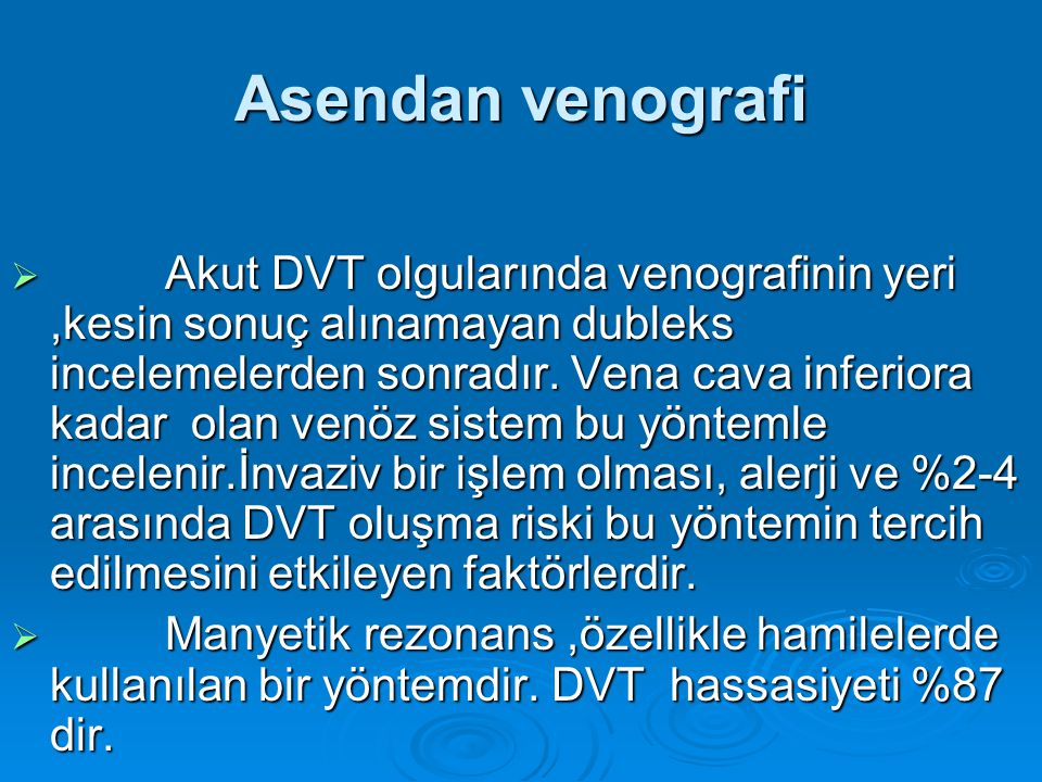 Asendan venografi