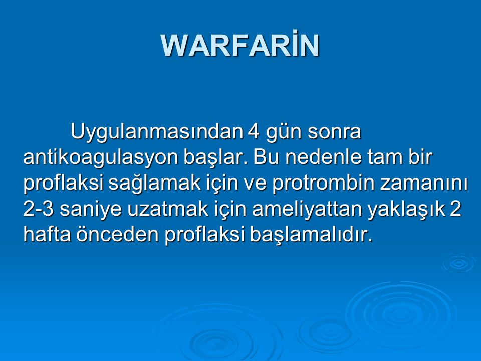 WARFARİN