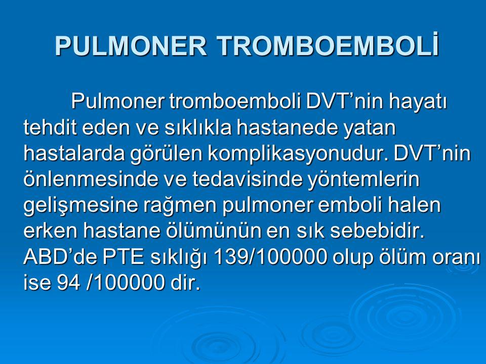 PULMONER TROMBOEMBOLİ
