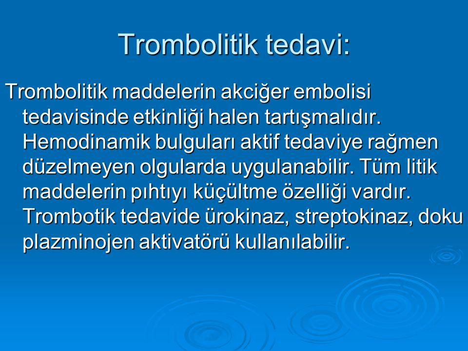 Trombolitik tedavi: