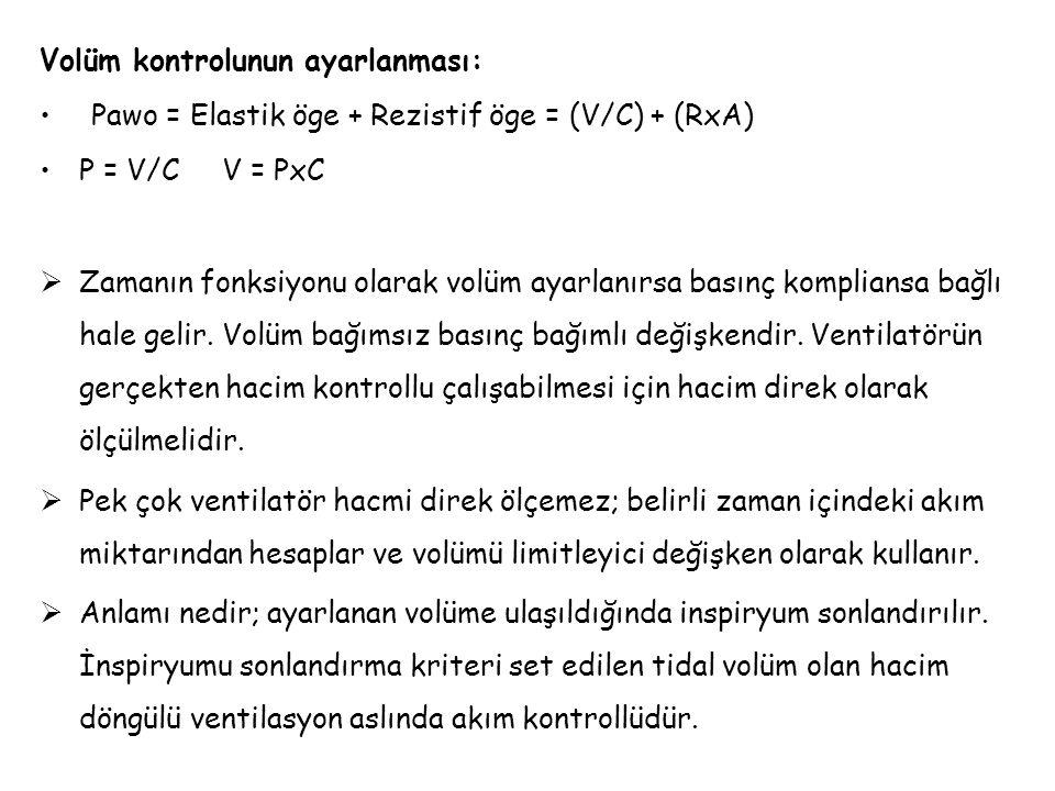 Volüm kontrolunun ayarlanması: