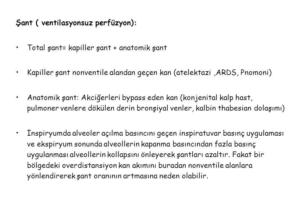 Şant ( ventilasyonsuz perfüzyon):