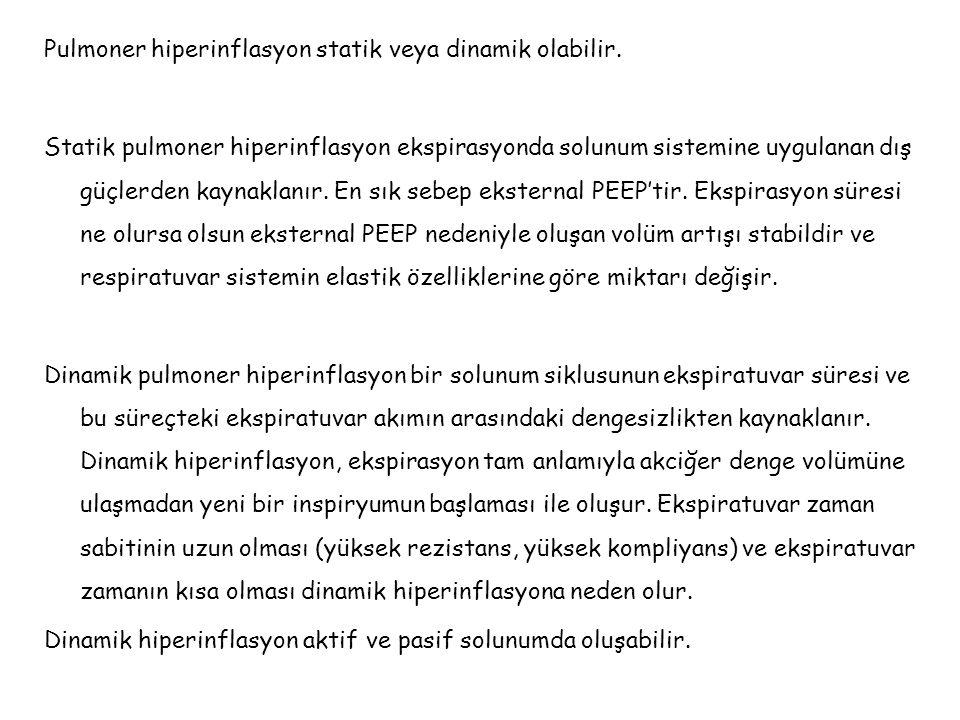 Pulmoner hiperinflasyon statik veya dinamik olabilir.