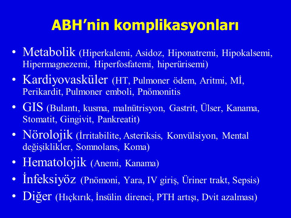 ABH'nin komplikasyonları