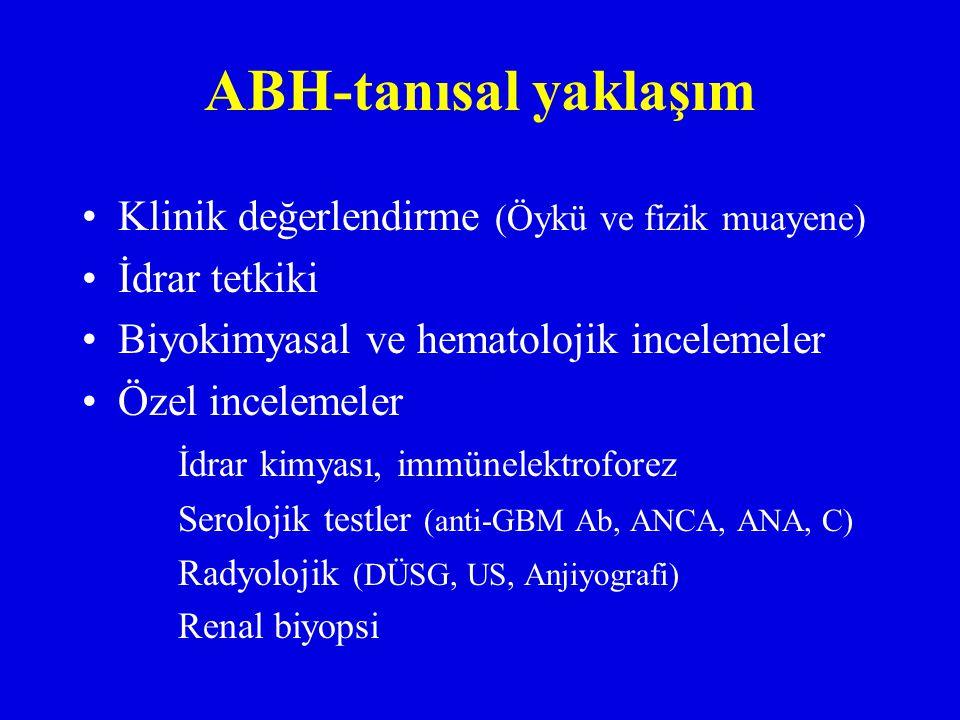 ABH-tanısal yaklaşım Klinik değerlendirme (Öykü ve fizik muayene)