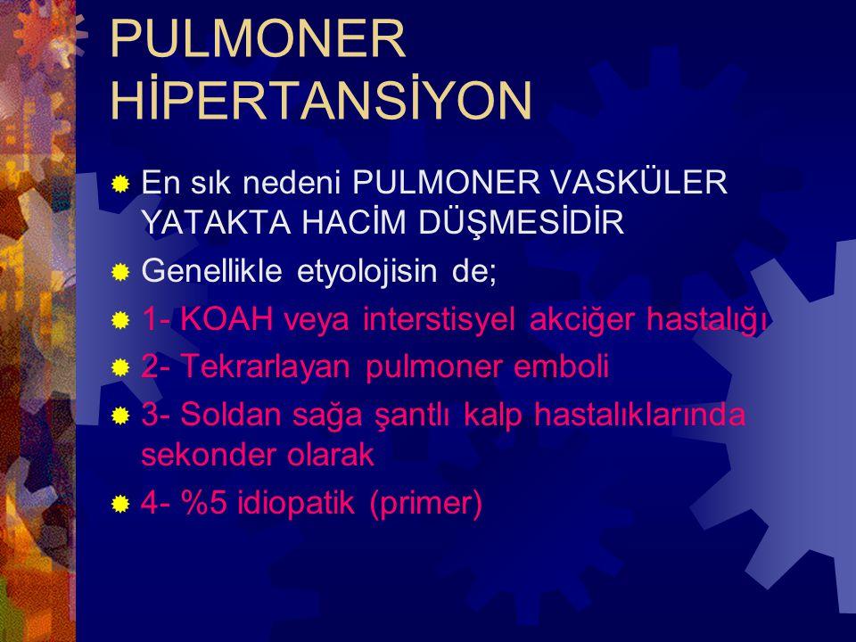 PULMONER HİPERTANSİYON
