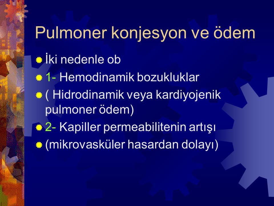 Pulmoner konjesyon ve ödem