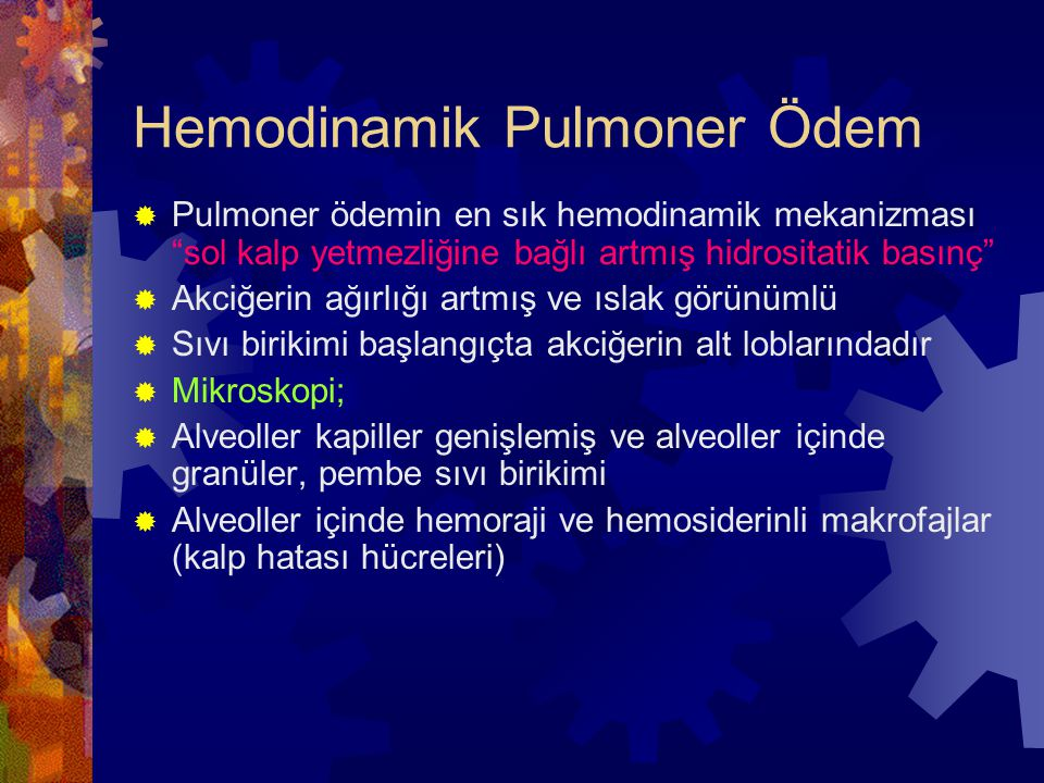 Hemodinamik Pulmoner Ödem