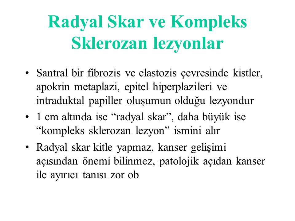 Radyal Skar ve Kompleks Sklerozan lezyonlar