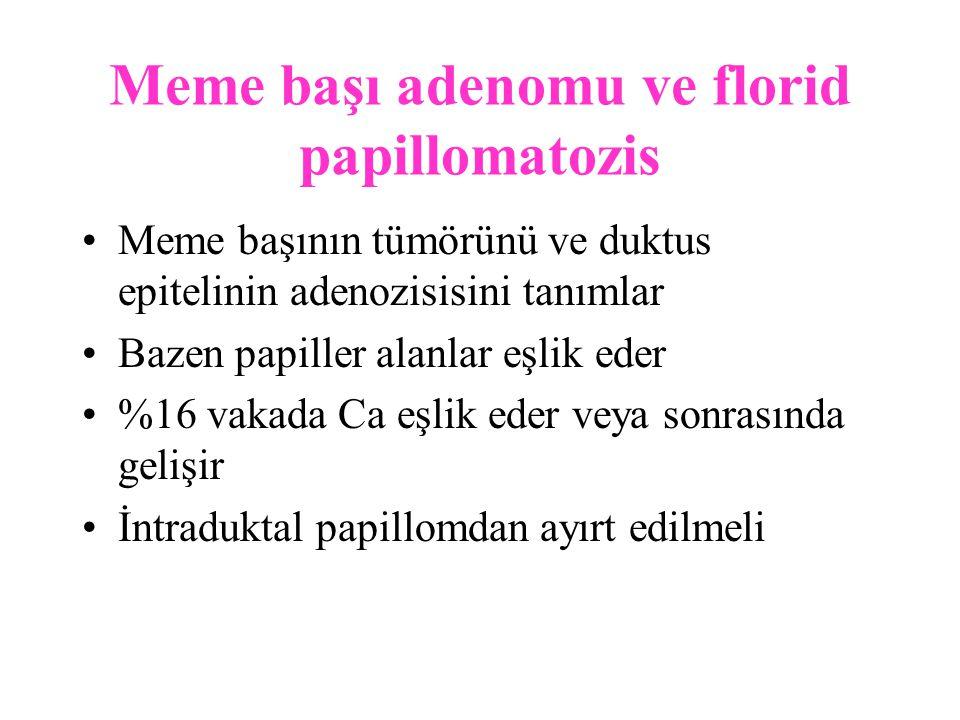 Meme başı adenomu ve florid papillomatozis