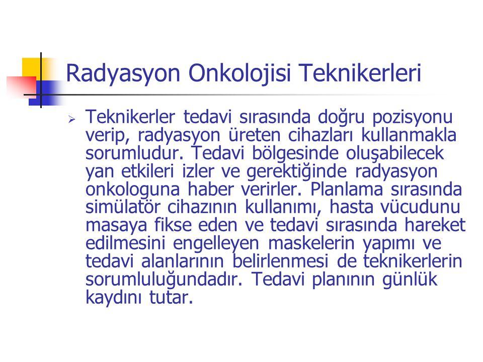 Radyasyon Onkolojisi Teknikerleri