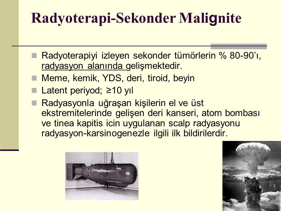 Radyoterapi-Sekonder Malignite