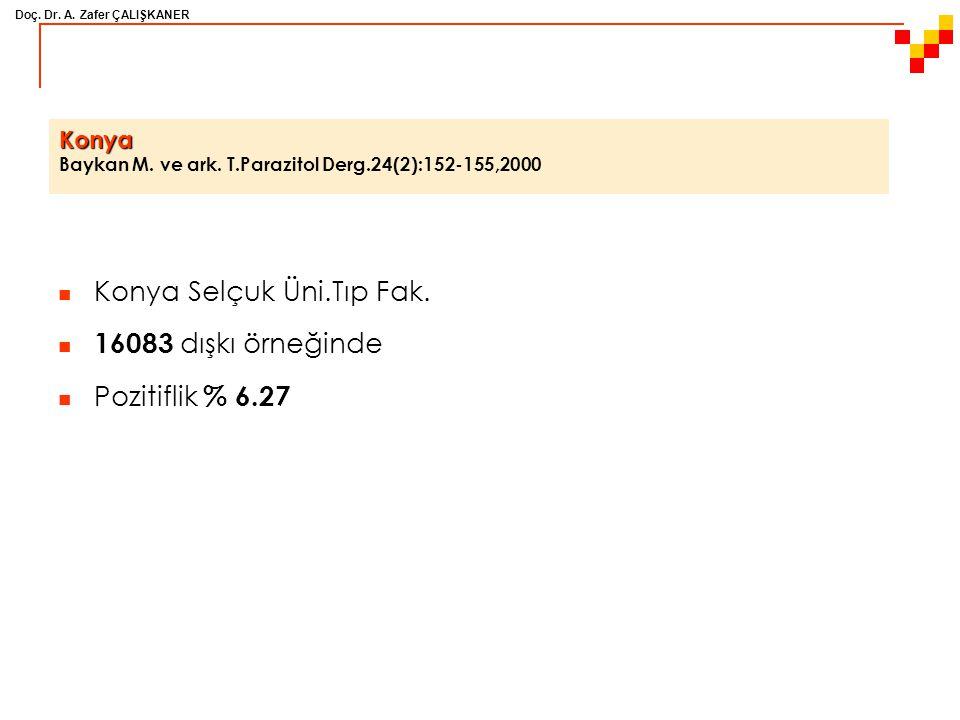 Konya Baykan M. ve ark. T.Parazitol Derg.24(2):152-155,2000